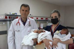 Doktorları şaşırtan üçüzler normal doğumla geldi