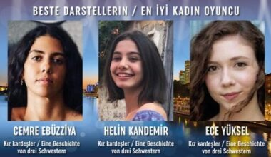 Cemre Ebuzziya, Helin Kandemir, Ece Yüksel En İyiKadınOyuncu Ödülünü paylaştı!