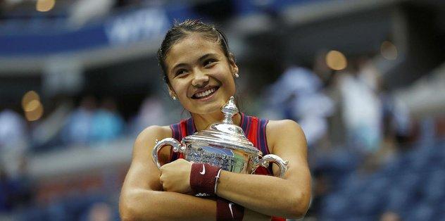 ABD Açık'ta tek kadınlar şampiyonu Emma Raducanu…