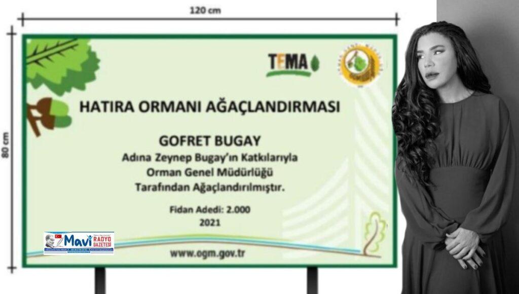 Zeynep Bugay, NFT'den Elde Ettiği Gelirle Hatıra Ormanı Yaptırıyor